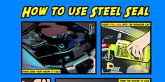 New Infographic - Steel Seal Head Gasket Repair Steel Seal, Radiator Cap, Infographic, Comic Books, Cold, How To Make, Infographics, Cartoons, Comics
