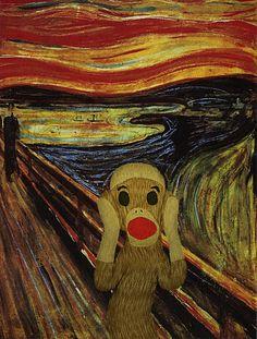 Sock Monkey Scream - by Sock Monkey Central (2013) Edvard Munchkey?