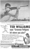 Crosman Pellguns, Ted Williams 1958 Ad Picture