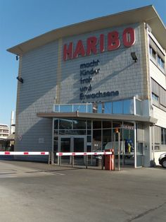 The Haribo factory in Bonn. Haribo, makers of gummy bears, was named after its founder and the town he lived in - HAns RIEgal BOnn