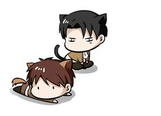Kitty Eren and Kitty Levi. :)