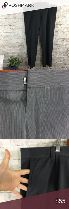 "Hugo Boss gray charcoal stripe dress pants In excellent condition . Dark grey with tiny stripes . Size 30 inseam 30"" offers welcome. Hugo Boss Pants Dress"