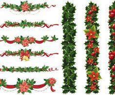 Christmas garland vector