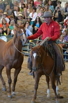 Pat Parelli and the challenging horse Grace from the 2013 Parelli Summit.