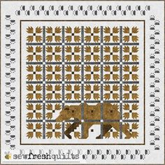 Welcome to the MOD Bear Paw quilt along! The making of the full size version of this quilt was very rewarding. And when I shared about my fi...