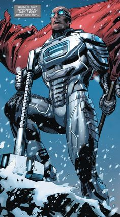 Steel (John Henry Irons), also known as the Man of Iron (DC Comics) Comic Book Characters, Comic Book Heroes, Comic Character, Comic Books Art, Comic Art, Marvel Girls, Marvel Dc, Arte Dc Comics, Power Girl
