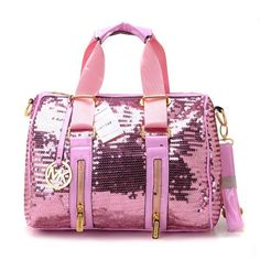 3cb85f921dc9 Michael Kors Sequins Large Pink Satchel Bag Mk Bags