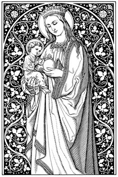 Lists Every Catholic Should be Familiar With Christian Images, Christian Art, Catholic Art, Religious Art, Vintage Holy Cards, Images Of Mary, Mama Mary, Religious Pictures, Mary And Jesus