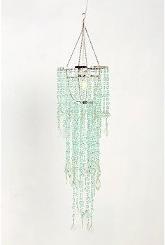 """Tier Cascade Faux Chandelier: Made of metal and acrylic. Measures 38"""" x 10"""". $58 #Chandelier #Lighting"""