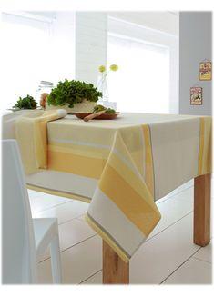 Nappe Rectangulaire en Jacquard Rayé (Soleil) Decoration, Beige, Color, Products, Oval Tablecloth, Tablecloths, Napkin, Envy, Lineup