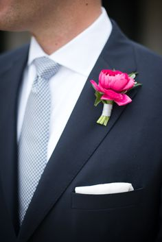 bright boutonniere // photo by Kaysha Weiner // floral design by Blue Magnolia Events