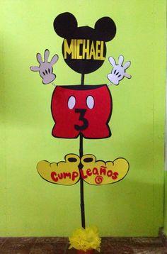 entrada para cumpleaños #mickeymouse personalizado