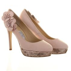 Cupcake - This sky high platform wedding shoe is set to make waves on the aisle! Cupcake by Hassall is covered in dusty pink baby soft leather and is finished off with a pair of  hand cut  flowers as well as laser cut heels in rose gold! Wow, just as gorgeous on a night out as it is for our wedding day. Wear these over and over again!   Remember, Diane Hassall shoes are made in very limited numbers, so make sure you get yours to avoid disappointment! £180.00
