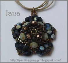 Pattern jewelry: Pendant Jana