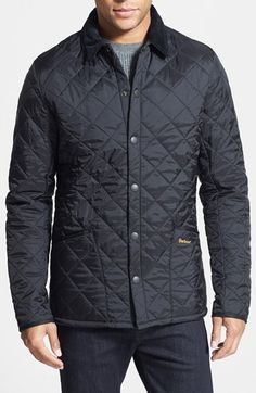 Barbour 'Heritage Liddesdale' Slim Fit Quilted Jacket available at #Nordstrom