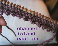 Hand Knitted Things: Channel Island cast on Sponsored By: Grandma's Crochet Shop Knitting Help, Knitting Stitches, Knitting Needles, Knitting Yarn, Hand Knitting, Finger Knitting, Beginner Knitting, Knitting Machine, Vintage Knitting