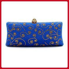 8e71ee392b Flada Women's Long Clutch Purse Crystal Beaded Wedding Party Evening Bags  Blue1 - Evening bags (*Amazon Partner-Link). MY HANDBAG