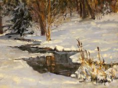 A Winters Tale by Suzanne Morris Oil ~ 9 x 12
