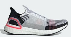 Buy and sell authentic adidas Ultra Boost 2019 Cloud White Active Red (W) shoes and thousands of other adidas sneakers with price data and release dates. Sock Shoes, Shoe Boots, Neutral Running Shoes, Boost Shoes, Adidas Boost, Women's Socks & Hosiery, Running Sneakers, Courses, New Shoes