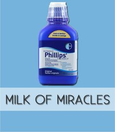 Use milk of magnesia as a primer for oil-free, matte skin.