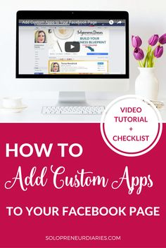 Want to learn how to add custom tabs or apps to your Facebook business page? This is a quick and easy strategy to boost your engagement.  Click through for a step-by-step video tutorial and free printable checklist!