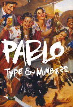 'Pablo' Brush Typeface on Behance