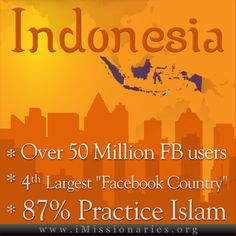 infographic about indonesia, and a great way to evangelize from your home!