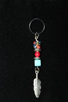 Beaded Feather Vape Charm on Etsy, $15.00