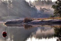 Aamun sarastus | Suomen Luonto. In the early morning, Tammisaari, Finland