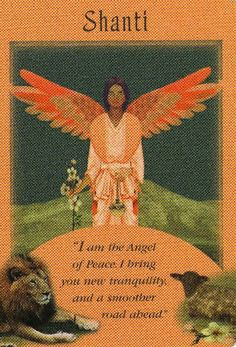 Shanti....I am the Angel of Peace.  I bring you new tranquility and a smoother road ahead.