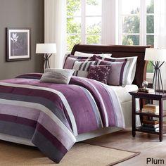 Madison Park Boulder Stripe 7-piece Comforter Set - Free Shipping Today - Overstock.com - 13267121 - Mobile