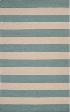 Blue Stripe Runner Rug