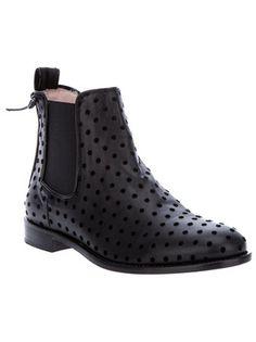 Red Valentino Polka Dot Chelsea Boot