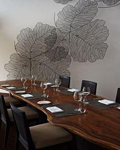 Dining Room Chef's Table at Park Hyatt Maldives Hadahaa, designed by HBA/Hirsch Bedner Associates.
