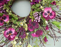 Spring+Wreath++Summer+Wreath++Summer+Door+Wreath+by+countryprim,+$45.00