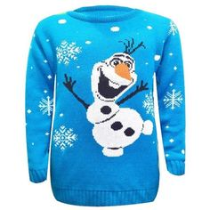 Kids Unisex Boys&Girls Olaf Frozen Reindeer Knitted Christmas Xmas Sweater Jumper To 8 years, Sky Blue Olaf Kids Jumper) Frozen Christmas, Christmas Jumpers, Christmas Sweaters, Baby Sweater Knitting Pattern, Jumper Patterns, Kids Outfits Girls, Girl Outfits, Olaf Frozen, Christmas Knitting