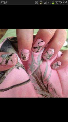 #pink#camo#nails