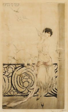 Louis Icart (French, 1888-1950) Les Juillards | Sale Number 2446, Lot Number 96 | Skinner Auctioneers