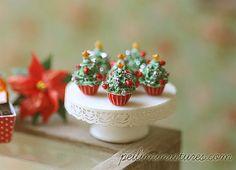 Dollhouse Miniature Food  Christmas Tree by miniaturepatisserie, $58.90