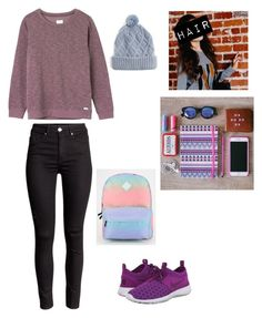 """Thursday "" by my-volleyball-world ❤ liked on Polyvore featuring RVCA, NIKE, Target and Vans"