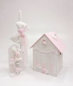 Pink Dollhouse, Little Star, Christening, Diy Home Decor, Candle Holders, Decorative Boxes, Candles, Dolls, Birthday
