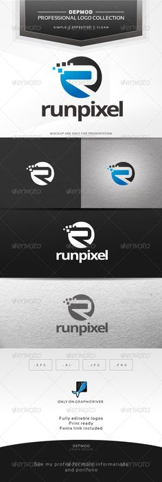Run Pixel Logo — Vector EPS #web #brand • Available here → https://graphicriver.net/item/run-pixel-logo/6462832?ref=pxcr