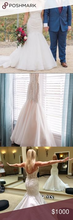 Mori Lee Wedding Dress! Just wore it in November and ***it needs to be professionally cleaned before I️ send it to you FYI!!!** so shipping may take a little Longer. I will let you know the estimated time to get it cleaned once you purchase.  *It was altered to fit me.  I'm a size 4. Bust 34D. The dress tag size is 6. Bottom of the dress was NOT hemmed. And I️ wore 4 inch heels with it. I️ am 5'5. Retail price $1250. Please feel free to ask ANY questions!! Thank you! Mori Lee Dresses Wedding