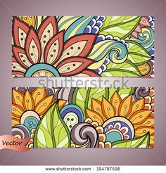 Find Vector Set Floral Banner Place Text stock images in HD and millions of other royalty-free stock photos, illustrations and vectors in the Shutterstock collection. Thousands of new, high-quality pictures added every day. Mandala Art, Mandala Design, Art Mural Floral, Mural Art, Doodle Art, Garden Mural, Floral Banners, Indian Art Paintings, Wall Drawing