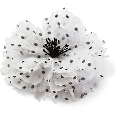 Polka Dot Flower Pin/Clip ($30) ❤ liked on Polyvore