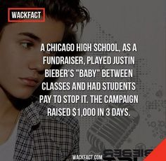 Fundraising Idea, Thanks to Justin Bieber