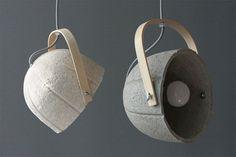 Fancy   Paper Concrete Composite Dome Lamp