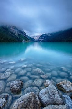 Storm over Lake Louise, Canada