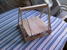 hamster swing ~ made with craft sticks