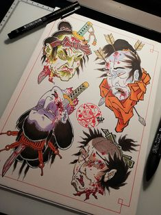 Japanese Drawings, Japanese Tattoo Art, Japanese Tattoo Designs, Japanese Art, Japanese Dragon, Traditional Japanese Tattoo Flash, Traditional Tattoo Old School, Samurai Drawing, Samurai Tattoo